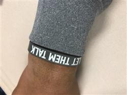 Jaden Page verified customer review of LET THEM TALK Wristband