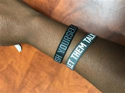Ashanti F. verified customer review of LET THEM TALK Wristband