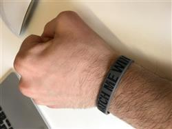 Kevin F. verified customer review of WATCH ME WIN Wristband