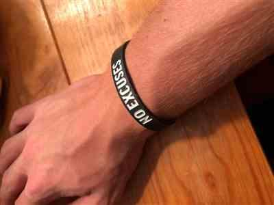 Anonymous verified customer review of NO EXCUSES Wristband