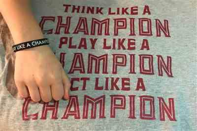 Anonymous verified customer review of PLAY LIKE A CHAMPION Wristband