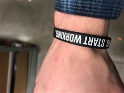 Edward S. verified customer review of Baseball Wristband