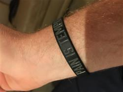 Byron B. verified customer review of RISE & GRIND Wristband