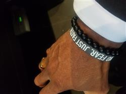 Alphonso B. verified customer review of NEVER QUIT Wristband