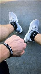 Brett H. verified customer review of NEVER QUIT Wristband