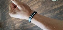 Steve K. verified customer review of NEVER QUIT Wristband
