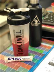 Alicia A. verified customer review of Motivational Shaker Cup (Clear w/ Black Lid)