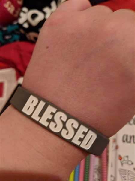 Anonymous verified customer review of BLESSED Wristband