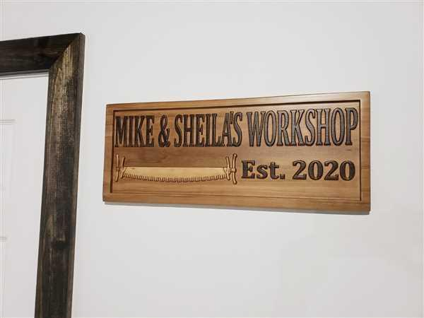 Michael Burns verified customer review of Custom Workshop Sign with Tools