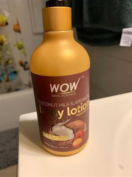 Wow Skin Science WOW Skin Science Coconut Milk & Argan Oil Lotion (Medium Hydration) - 300mL Review
