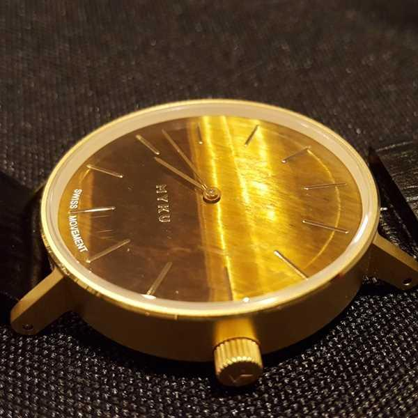 Monica Forde verified customer review of MYKU Tiger Eye Gold 38mm Watch