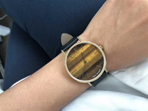W.S. Lim verified customer review of MYKU Tiger Eye Gold 38mm Watch