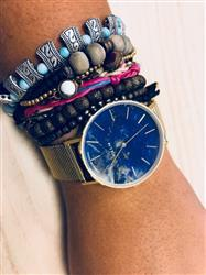 Anne-Sophie H. verified customer review of MYKU Lapis Lazuli Gold 38mm Watch