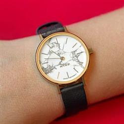 Julia S. verified customer review of MYKU Howlite Gold 32mm Watch