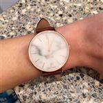 Julien C. verified customer review of MYKU White Marble Rose Gold 38mm Watch