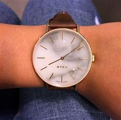 Zoie Chow verified customer review of MYKU White Marble Rose Gold 38mm Watch