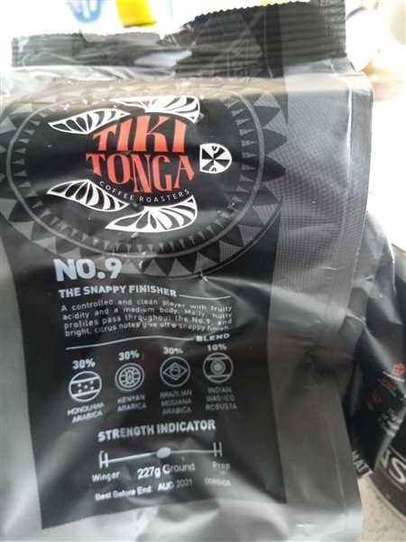 Tiki Tonga Coffee Roasters Tiki Tonga - All 5 blends 227g bags (blends 2, 8, 9, 10 and 12) FULL TEAM Taster Pack Review