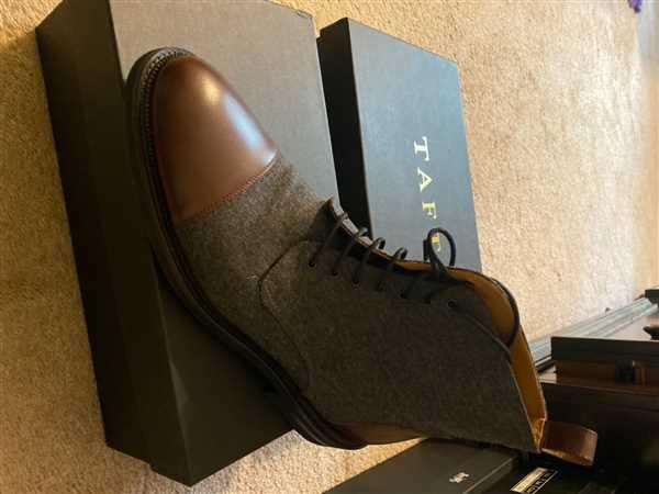 TAFT The Jack Boot in Grey/Oxblood Review