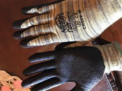 Andrew M. verified customer review of Tsunami Grip® CR609 Tuff Hybrid Cut Resistant Nitrile Grip Work Glove, Cut Level A4