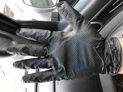 Mark S. verified customer review of Gloveworks GWBN Heavy Duty 6 Mil Black Nitrile Gloves, Industrial Grade