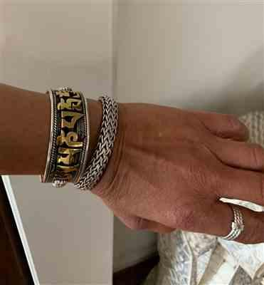 Marie Parham verified customer review of Silver and Gold Compassion Mantra Bracelet