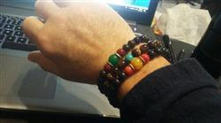 Tommy E. verified customer review of Coral and Jade Rosewood Wrist Mala