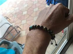 EDDIE L. verified customer review of Tiger Eye Wrist Mala with Turquoise Spacer