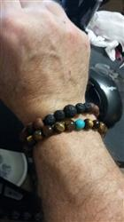 Tommy E. verified customer review of Beautiful Oiled Thai Rosewood and Lava Rock Bracelet