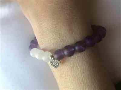Margot  verified customer review of Spiritual Growth Matte Amethyst Wrist Mala