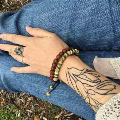 Angela Price verified customer review of Calming Thai Rosewood Wrist Mala