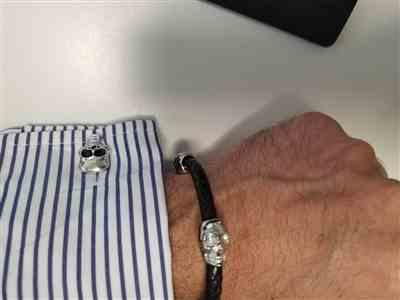 JOSE MAURO CASTILLO ESPRONCEDA verified customer review of Genuine Leather Silver Twin Skull Bracelet
