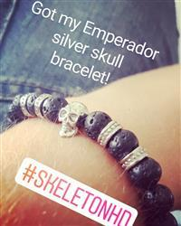 Tom B. verified customer review of Emperador Silver Skull Bracelet
