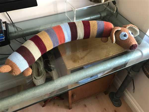 Deramores Rattlesnake Draught Excluder by Amanda Berry in Deramores Studio DK Review
