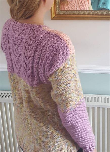 Deramores Sweater by Jenny Watson in James C. Brett DK with Merino (5046) Review