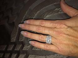 Anonymous verified customer review of Diamond Floral Wide Fashion Band 3/4 CTW in 10K White Gold