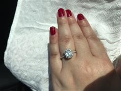 Anonymous verified customer review of Emerald Diamond Halo Engagement Ring 1 1/4 CTW in 14k White Gold
