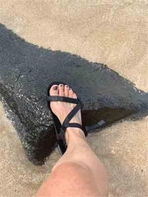 Erin F. verified customer review of Z-Trek Lightweight Sport Sandal - Women - Coal Black / Black, 6