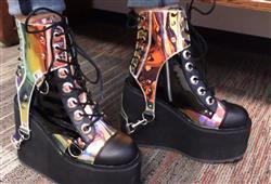 CRISTAL B. verified customer review of Demonia Black Holo Harness Platform Boots