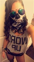 Leyla S. verified customer review of Skeleton Seamless Mask Bandana