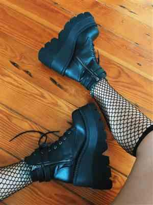 JULIA M. verified customer review of Demonia Super Stacked Platform Boots