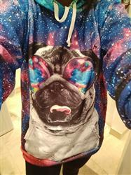 Bénédicte L. verified customer review of Galaxy Pug Hoodie