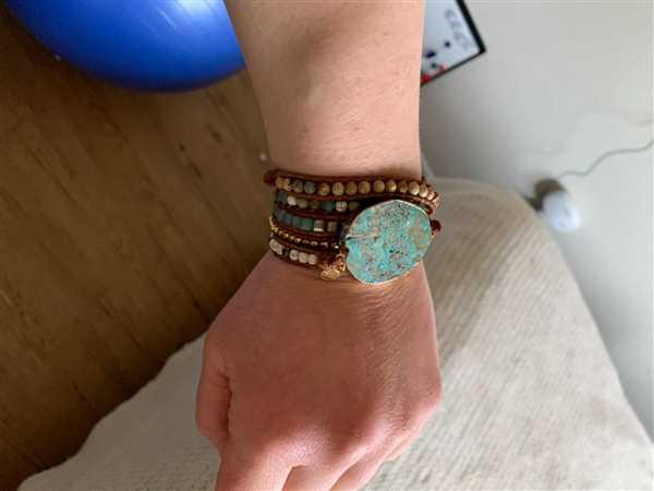 Anonymous verified customer review of Hawaiian Ocean Jasper Leather Wrap Bracelet
