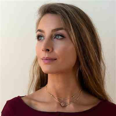 @odette_hughes verified customer review of Minimalist Layered Choker - Moonstone