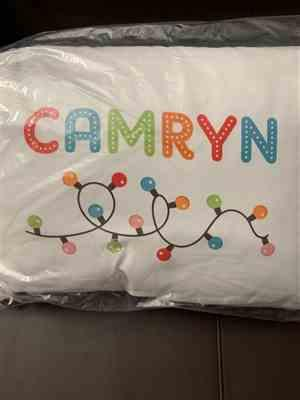 Lindsay Williams verified customer review of PERSONALIZED TODDLER PILLOW & PILLOWCASE -- NAME IN LIGHTS