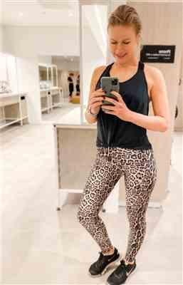 Maria Antropova  verified customer review of Leopard High Rise Leggings