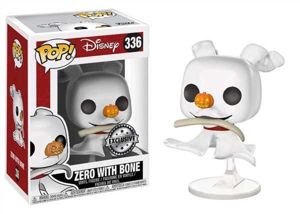 INSANE TOY SHOP Pop! Disney #336: Nightmare Before Christmas: ZERO with BONE GITD Box Lunch Chase Variant Review