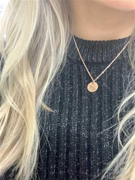 T  verified customer review of Dandelion Necklace Choose Your Metal And Length Semi Precious