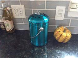 Kenneth C. verified customer review of *BLUE* Stainless Steel Compost Pail