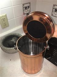 Tiffany E. verified customer review of *ROSE GOLD* Stainless Steel Compost Pail