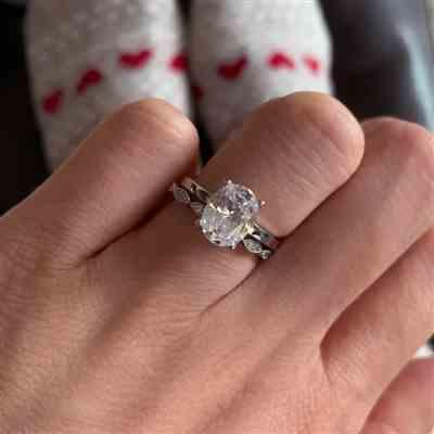 Jennifer T verified customer review of 2 ct Oval Solitaire Ring